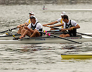 Poznan, POLAND.  2006, FISA, Rowing World Cup, NZL M2- bow Nathan TWADDLE and George DRINKWATER, men's pair  final,  forground back  ground AUS M2- Duncan FREE and Drew GINN,  on the   'Malta Regatta course;  Poznan POLAND, Sat. 17.06.2006. © Peter Spurrier   ....[Mandatory Credit Peter Spurrier/ Intersport Images] Rowing Course:Malta Rowing Course, Poznan, POLAND