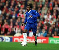 Fotball. Engelsk Premier League. 24.03.2002.<br /> Liverpool v Chelsea.<br /> Celestine Babayaro, Chelsea.<br /> Foto: Matthew Impey, Digitalsport