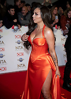 Jesy Nelson at the 25th National Television Awards, Arrivals, O2, London, UK 28 Jan 2020  photos by Brian Jordan