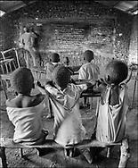 Primary school and itas pupils - West Nile, Moyo District, Uganda.