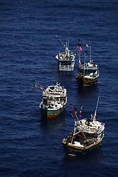 INDIAN OCEAN 24MAR13 - Four unidentified Sri Lankan fishing vessels drift in the Chagos EEZ in the Indian Ocean.<br /> <br /> <br /> <br /> The Greenpeace ship Esperanza is on patrol in the Indian ocean documenting illegal fishing vessels.<br /> <br /> <br /> <br /> jre/Photo by Jiri Rezac / Greenpeace