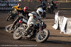 "Mack (Masahiro Okinawa) racing his 1942 Harley-Davidson 45"" WLA racer at the Okie Dokie Vintage Races put on by Go Takamine's Brat Style at West Point Off-Road Village, Kawagoe, Saitama, Japan. Tuesday, December 4, 2018. Photography ©2018 Michael Lichter."