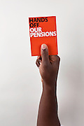 PCS members showing the government the red card on pensions.