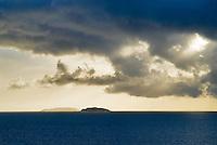 Dramatic light over Scottish Island