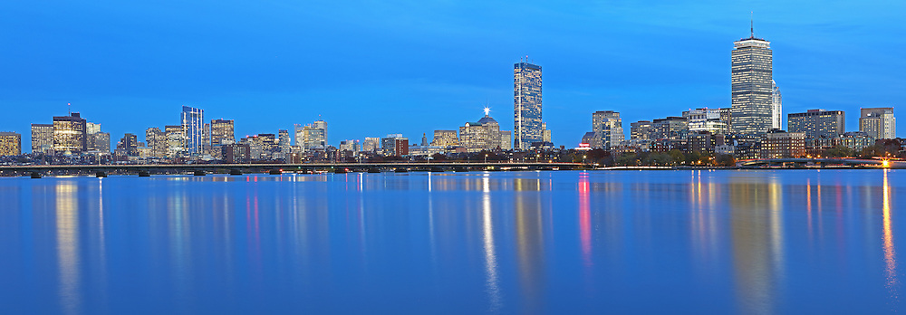 Stunning Boston skyline panorama photography from New England based award winning fine art photographer Juergen Roth. This panorama photo images shows familiar Boston landmarks such as the Prudential Center and 200 Clarendon office building formerly known as John Hancock Tower in the Back Bay, the Massachusetts State House and the newly constructed Millennium Tower in Beacon Hill as seen from Cambridge, MA Memorial Drive one of Boston's best photo locations. <br /> <br /> Boston panorama night photography images are available as museum quality photo prints, canvas prints, acrylic wall art prints, wood image prints or metal fine art prints. Fine art prints may be framed and matted to the individual liking and decorating needs: <br /> <br /> http://juergen-roth.pixels.com/featured/boston-charles-river-skyline-panorama-photography-image-juergen-roth.html<br /> <br /> All Boston photos are available for digital photography image licensing at www.RothGalleries.com. The image can also be printed as very large art prints and used for murals. Please contact me direct with any questions or request. <br /> <br /> Good light and happy photo making!<br /> <br /> My best,<br /> <br /> Juergen<br /> Image Licensing: http://www.RothGalleries.com <br /> Fine Art Prints: http://juergen-roth.pixels.com<br /> Photo Blog: http://whereintheworldisjuergen.blogspot.com<br /> Twitter: https://twitter.com/naturefineart<br /> Facebook: https://www.facebook.com/naturefineart <br /> Instagram: https://www.instagram.com/rothgalleries