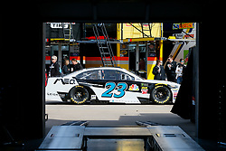 November 3, 2018 - Fort Worth, TX, U.S. - FORT WORTH, TX - NOVEMBER 03: Monster Energy NASCAR Cup Series driver J.J. Yeley (23) drives through the garage area gets during practice for the AAA Texas 500 at the Texas Motor Speedway in Fort Worth, Texas. (Photo by Matthew Pearce/Icon Sportswire) (Credit Image: © Matthew Pearce/Icon SMI via ZUMA Press)