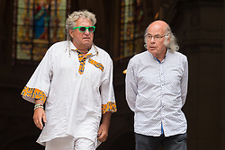 Jean Louis Noton and Gilou leaving Yvette Horner funeral at St Roch Church on June 19, 2018 in Paris, France. Photo by Nasser Berzane/ABACAPRESS.COM