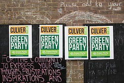 Chesham, UK. 18th June, 2021. Campaign signs for the Green Party candidate Carolyne Culver are pictured on the day of the announcement of the result of the Chesham and Amersham by-election. The Liberal Democrat candidate, Sarah Green, won by 8,028 votes from the Conservatives, overturning a 16,000 majority in a seat which had always voted Conservative, with the Green Party finishing third.