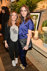 Left to right, VASSI CHAMBERLAIN and TANIA FARES at a party to celebrate the publication of India Hicks: Island Style hosted by Princess Marie-Chantal of Greece, Saffron Aldridge and Amanda Brooks has held at Ralph Lauren, 105-109 Fulham Road, London on 28th April 2015,