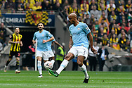 Vincent Kompany (4) of Manchester City  during the The FA Cup Final match between Manchester City and Watford at Wembley Stadium, London, England on 18 May 2019.