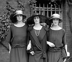 File photo dated 01/07/23 of Lady Louise Mountbatten with, left, Princess Theodora of Greece and, right, Princess Margarita of Greece, daughters of Prince Andrew of Greece and Denmark, and sisters of the Duke of Edinburgh. The Duke of Edinburgh has died, Buckingham Palace has announced. Issue date: Friday April 9, 2020.. See PA story DEATH Philip. Photo credit should read: PA Wire