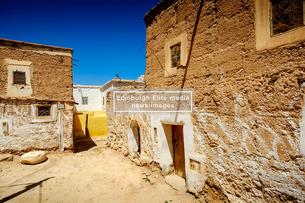 Occupied house at a Glaoui Kasbah left to ruin in Taliwine territory Morocco<br /> <br /> (c) Andrew Wilson | Edinburgh Elite media