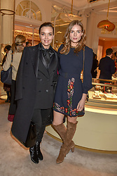 Victoria Pendleton and Rosie Tapner at the reopening of the Cartier Boutique, New Bond Street, London, England. 31 January 2019. <br /> <br /> ***For fees please contact us prior to publication***
