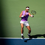 2019 US Open Tennis Tournament- Day Six.  Rafael Nadal of Spain in action against Hyeon Chung of Korea in the Men's Singles round three match on Arthur Ashe Stadium during the 2019 US Open Tennis Tournament at the USTA Billie Jean King National Tennis Center on August 31st, 2019 in Flushing, Queens, New York City.  (Photo by Tim Clayton/Corbis via Getty Images)