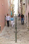 """The streets around hotel """"Casa das Janelas com Vista"""", located in Bairro Alto district, in Lisbon, Portugal."""