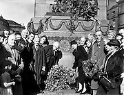 Parnell Commemorations.05/10/1958..Charles Stewart Parnell (27 June 1846 - 6 October 1891) was an Irish landowner, nationalist political leader, land reform agitator, and the founder and leader of the Irish Parliamentary Party. He was one of the most important figures in 19th century Ireland and Great Britain, and was described by Prime Minister William Gladstone as the most remarkable person he had ever met..Parnell led the Irish Parliamentary Party as Member of Parliament (MP) through the period of Parliamentary nationalism in Ireland between 1875 and his death in 1891. Future Liberal Prime Minister, H. H. Asquith, described him as one of the three or four greatest men of the 19th century, while Lord Haldane described him as the strongest man the British House of Commons had seen in 150 years. The Irish Parliamentary Party split during 1890, following revelations of Parnell's private life intruding on his political career. He is nevertheless revered by subsequent Irish parliamentary republicans and nationalists..