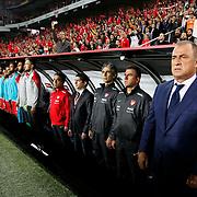 Turkey's coach Fatih Terim (R) during their UEFA Euro 2016 qualification Group A soccer match Turkey betwen Czech Republic at Sukru Saracoglu stadium in Istanbul October 10, 2014. Photo by Aykut AKICI/TURKPIX
