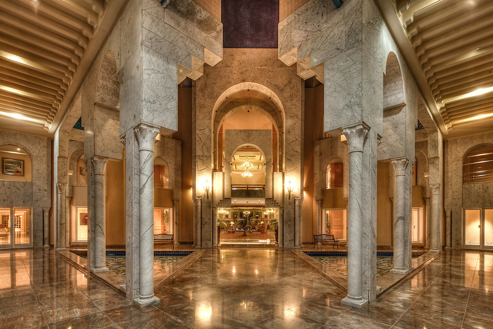 Entrance of a prestigious hotel, Hammamet, Tunisia