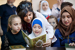 © Licensed to London News Pictures. 28/05/2017. Hatay, Turkey. Former Minister of State for Faith and Communities, BARONESS WARSI visits a Syrian women association which supports Syrian widows and orphans on the Turkish-Syrian border in Hatay, Turkey on the first day of Ramadan. Photo credit: Tolga Akmen/LNP
