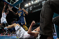 SPAIN, Madrid: Real Madrid's Spanish player Felipe Reyes during the Liga Endesa Basket 2014/15 match between Real Madrid and Ucam Murcia, at Palacio de los Deportes in Madrid on November 16, 2014.