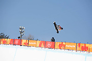 Arielle Gold, USA, during the womens halfpipe final at the Pyeongchang Winter Olympics on 13th February 2018 at Phoenix Snow Park in South Korea