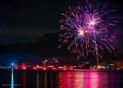 Labor Day Red Sail Regatta and Fireworks on Harveys Lake PA