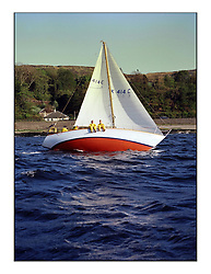 The Clyde Cruising Club's 1977 Tomatin Trophy the first Scottish Series held at Tarbert Loch Fyne.  An overnight race from Gourock to Campbeltown then on to Olympic Triangles in Loch Fyne. ..K414C  Quick Silver of Ashton owned by A S Soutar