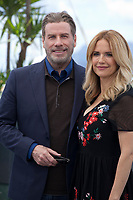 John Travolta and Kelly Preston at the Rendevous with John Travolta film photo call at the 71st Cannes Film Festival, Tuesday 15th May 2018, Cannes, France. Photo credit: Doreen Kennedy