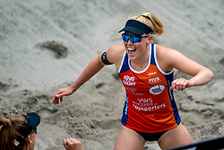 Emma Piersma in action during the second day of the beach volleyball event King of the Court at Jaarbeursplein on September 10, 2020 in Utrecht.