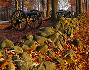 Cannons on Seminary Ridge, Memorial to the Army of Northern Virginia, Hill's Corps, Gettysburg National Military Park, Pennsylvania.