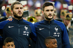29.03.2016, Stade de France, St. Denis, FRA, Testspiel, Frankreich vs Russland, im Bild gignac andre pierre, lloris hugo // during the International Friendly Football Match between France and Russia at the Stade de France in St. Denis, France on 2016/03/29. EXPA Pictures © 2016, PhotoCredit: EXPA/ Pressesports/ Sebastian Boue<br /> <br /> *****ATTENTION - for AUT, SLO, CRO, SRB, BIH, MAZ, POL only*****