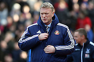 David Moyes, the Sunderland manager looks on. Premier League match, Crystal Palace v Sunderland at Selhurst Park in London on Saturday 4th February 2017. pic by Steffan Bowen, Andrew Orchard sports photography.