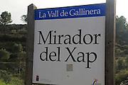 Mirador del Xap viewpoint, Vall de Gallinera, Marina Alta, Alicante province, Spain