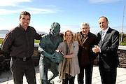 Fianna Fail candidate for the local elections in South Kerry Norma Moriarty from Waterville pictured with  Fianna Fail leader Micheal Martin, Former Kerry manager Mick O'Dwyer and former Kerry footballer Maurice Fitzgeraldcampaigning in Waterville and Cahersiveen at the weekend.<br /> Picture by Don MacMonagle<br /> <br /> REPRO FREE PHOTO