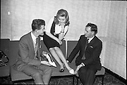 """""""Young Londoner Footwear"""" a Hanover Shoe Footwear Reception, at the Moira Hotel, Dublin.<br /> 12.11.1963"""