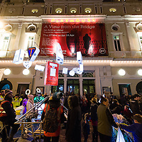 LIVERPOOL, UK, 1st March, 2014. The Everyman Theatre in Liverpool celebrated re-opening with a procession of lanterns, musicians and every day people from its sister theatre The Playhouse to the newly rebuilt theatre on Hope Street.
