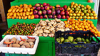 Open Air Fruit Stand in Cozumel, Mexico. Image taken with a Leica X1 (ISO 100, 24 mm, f/4, 1/125 sec).