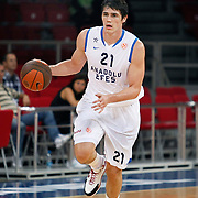 Anadolu Efes's Ersan ILYASOVA during their Two Nations Cup basketball match Anadolu Efes between Olympiacos at Abdi Ipekci Arena in Istanbul Turkey on Sunday 02 October 2011. Photo by TURKPIX