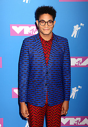 August 20, 2018 - New York City, New York, U.S. - Singer BRYCE VINE attends the arrivals for the 2018 MTV 'VMAS' held at Radio City Music Hall. (Credit Image: © Nancy Kaszerman via ZUMA Wire)