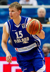 Teemu Rannikko of Finland during basketball game between National basketball teams of Slovenia and Finland at FIBA Europe Eurobasket Lithuania 2011, on September 12, 2011, in Siemens Arena,  Vilnius, Lithuania.  Slovenia defeated Finland 67-60. (Photo by Vid Ponikvar / Sportida)