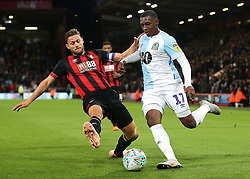 Blackburn Rovers' Amari'i Bell is tackled by Bournemouth's Simon Francis during the third round Carabao Cup match at the Vitality Stadium, Bournemouth.