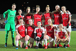 February 7, 2019 - London, England, United Kingdom - Arsenal Team shoot.during FA Continental Tyres Cup Semi-Final match between Arsenal and Manchester United Women FC at Boredom Wood on 7 February 2019 in Borehamwood, England, UK. (Credit Image: © Action Foto Sport/NurPhoto via ZUMA Press)