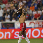 Thierry Henry, New York Red Bulls, at the end of the match during the New York Red Bulls Vs San Jose Earthquakes, Major League Soccer regular season match at Red Bull Arena, Harrison, New Jersey. USA. 19th July 2014. Photo Tim Clayton