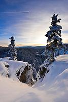 McIntyre Creek sunset with fresh snowfall