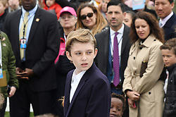 Barron Trump looks on during the 140th Easter Egg Roll on the South Lawn of the White House in Washington, DC on Monday, April 2, 2018. Photo by Olivier Douliery/Abaca Press