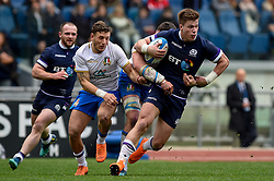 March 17, 2018 - Rome, Italy - Huw Jones of Scotland during the NatWest 6 Nations Championship match between Italy and Scotland at Stadio Olimpico, Rome, Italy on 17 March 2018. (Credit Image: © Giuseppe Maffia/NurPhoto via ZUMA Press)