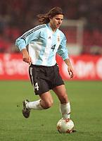 POCHETTINO, Mauricio<br /> Fussballspieler Argentinien 17.04.02<br /> <br /> Norway only