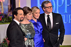 © Licensed to London News Pictures. 12/12/2018. London, UK. LIN-MANUEL MIRANDA, EMILY MORTIMER, EMILY BLUNT and COLIN FIRTH attends attends the Mary Poppins Returns European film premiere held at the Royal Albert Hall. Photo credit: Ray Tang/LNP
