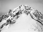 9969-7091. Mt. Hood summit detail aerial view from the west. September 10, 1947.