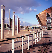 Millenium Centre building, Cardiff Bay, Cardiff, Wales